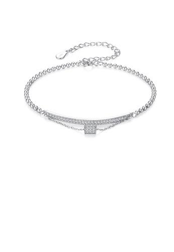 Glamorousky white 925 Sterling Silver Fashion Bright Geometric Cubic Zirconia Bead Bracelet 643D1AC1D0951FGS_1