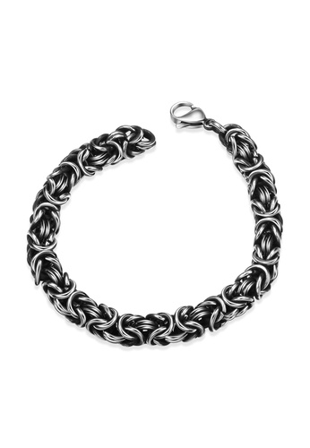 Treasure by B & D silver GMYH027 Punk Chain link type with Lobster Claw Clasps Stainless Steel Bracelet & Bangle 45C30ACBD9ABD0GS_1