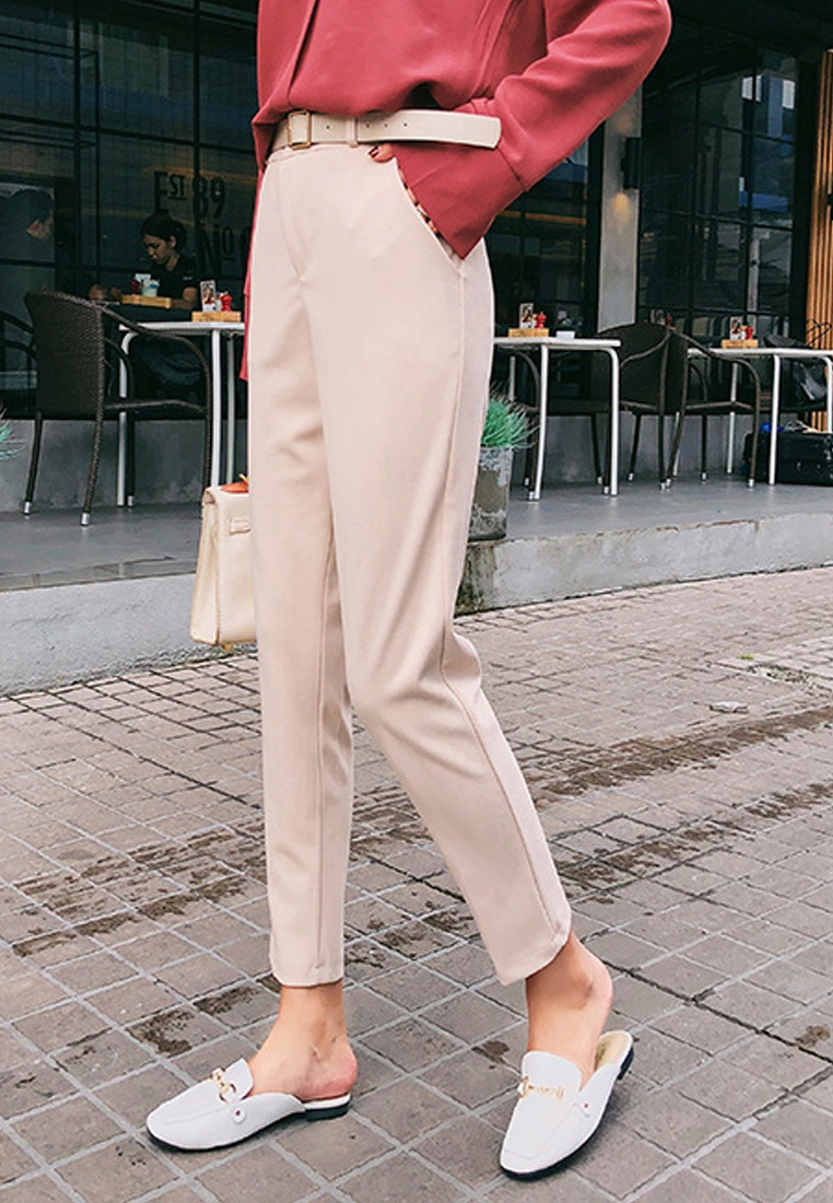 Retro 2018 Beige New S Sunnydaysweety Casual Pants A031303 S 7dqnw