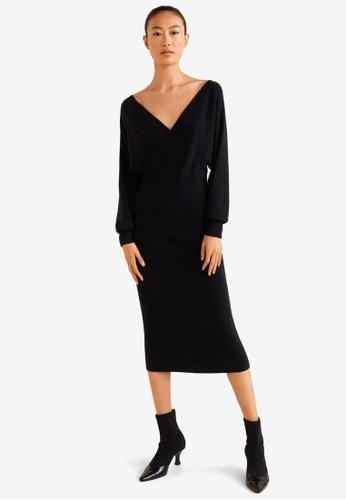 Mango black Wrapped Gown D19AAAA32E2BA4GS_1