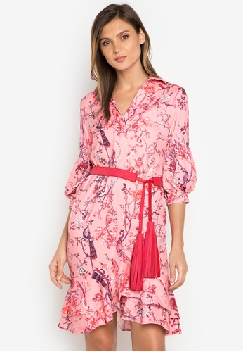 Plains & Prints multi Chinoiserie LS Barbie Dress PL509AA0J95BPH_1