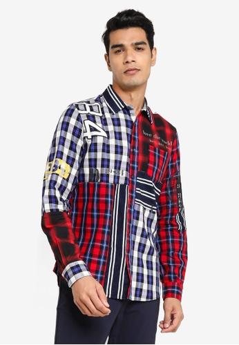 Desigual multi Checked Printed Shirt 84A66AAE95348AGS_1