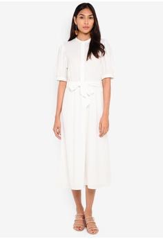 cc9318cc Vero Moda white Hanna 2/4 Calf Dress 274FCAA1E94F97GS_1