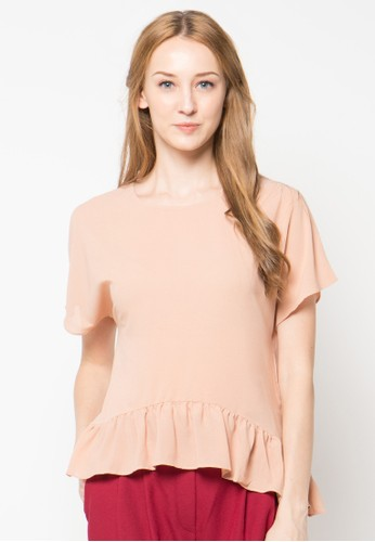 Raspberry pink Naira Sleeve Blouse RA572AA64PTFID_1
