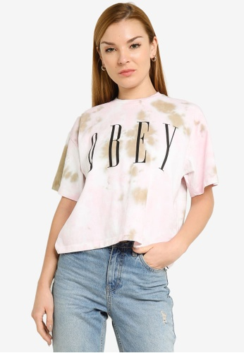 OBEY pink Obey New Tee 0DF4AAA9B18CBFGS_1