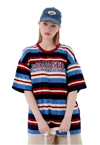 Twenty Eight Shoes Contrast Stripe Printed Short T-shirt HH1064 49E3BAA14AE1F7GS_1