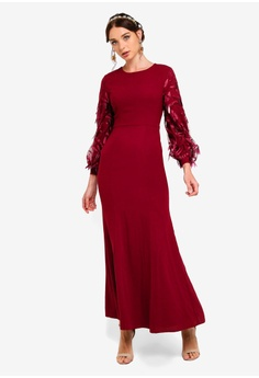 4def49cc1034 33% OFF Zalia Foliage Sleeves Mermaid Dress HK$ 549.00 NOW HK$ 366.90 Sizes  XS S M L XL