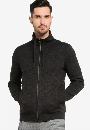 Banana Republic grey Full Zip Funnel Neck Sweater 53660AAEC7E90DGS_1