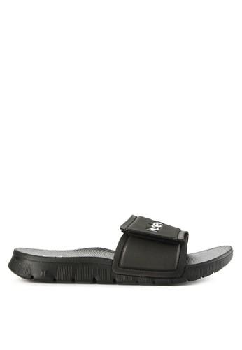 hurley black Fusion 2.0 Slide  Sandal 2FE0ESHDB838C5GS_1