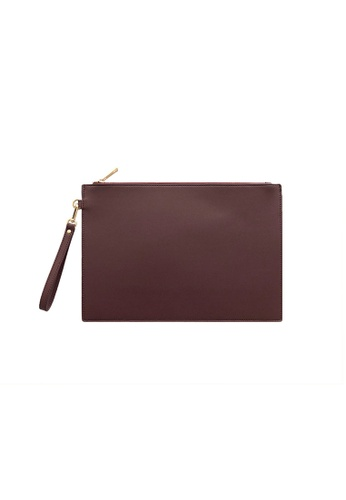 Knocks brown and red Large Clutch Bag Burgundy F5547AC140A52BGS_1