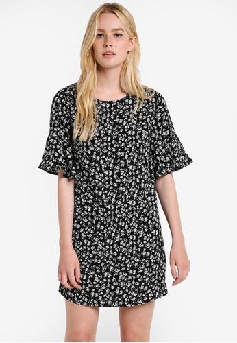 ZALORA black Love Fit & Flare Sleeves Dress 08242AA6FAEABDGS_1