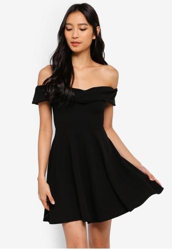 73d5ccc5b1e6 Buy MISSGUIDED Wrap Bardot Skater Dress | ZALORA HK