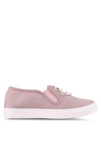 ZALORA pink Pearl Studded Embellished Slip Ons 630BDSH2781D0AGS_1