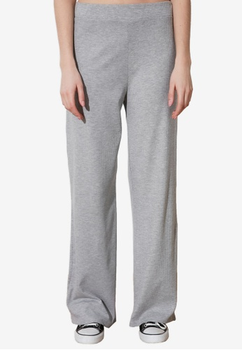 Trendyol grey Knitted Flare Trousers 3E470AA303F662GS_1