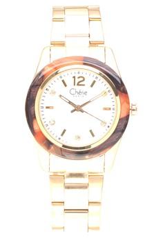 Gold Tone Steel Watch