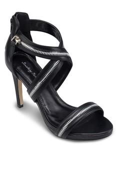 Zipper Strappy Heels
