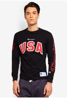 bcdb7cac6a Champion black Japan Collection Action Style Long Sleeve T-Shirt  23FE3AA985386DGS 1