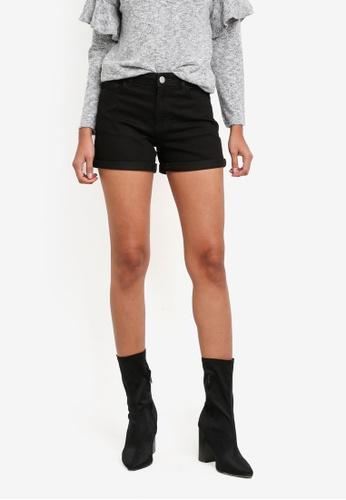 Dorothy Perkins black Black Entry Shorts DO816AA0S7BMMY_1