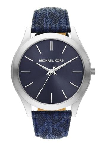 MICHAEL KORS blue Slim Runway Watch MK8907 91DCFACEC7CAC8GS_1