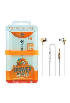 Powerbank 12000mAh with FREE Langsdom i7 Earphone