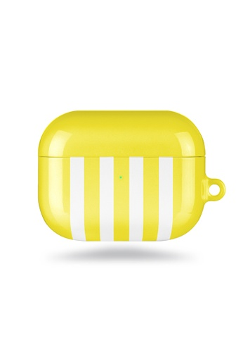 Polar Polar yellow Yellow Stripe AirPods Pro Case (Glossy) 992F1AC795FB1EGS_1