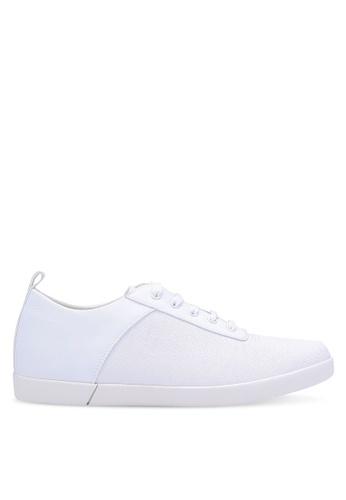 ZALORA white Essential Mixed Materials Sneakers EC707SHCB91D75GS_1