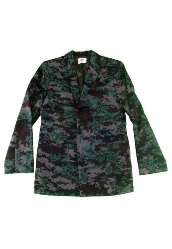 像素迷彩西裝外套, 服飾esprit地址, 西裝外套