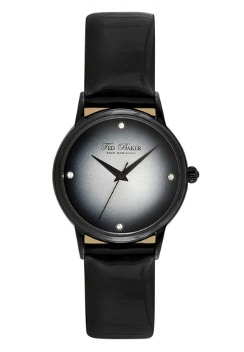 TED BAKER black Ted Baker Women's ITE2100 Black Leather Strap Watch TE877AC0S7GPMY_1