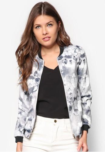 Love 輕量印花棒球外套, 服飾, 夾zalora是哪裡的牌子克 & 大衣