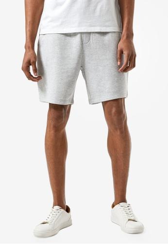 Burton Menswear London grey Grey Marl Jersey Shorts 164BFAA97B3EA1GS_1