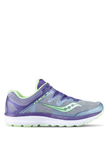 Saucony purple Guide ISO Running Shoes SA304SH0SW4YMY_1
