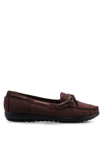 Louis Cuppers brown Round Toe Loafers 13CEESH3E1E694GS_1