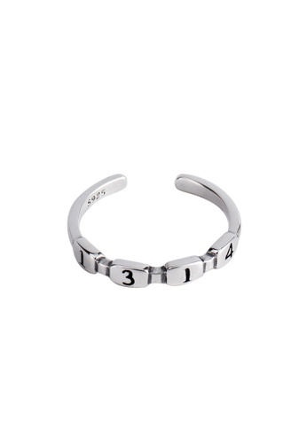 A-Excellence silver Premium S925 Sliver Geometric Ring C6938AC5534106GS_1