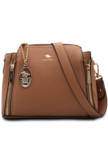 POLO HILL brown POLO HILL Ensign Ladies Sling Bag 301C3AC74FC6D5GS_1
