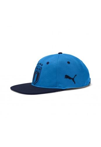 PUMA blue Italia Flat Brim Football Cap 37D99ACAE91F17GS_1