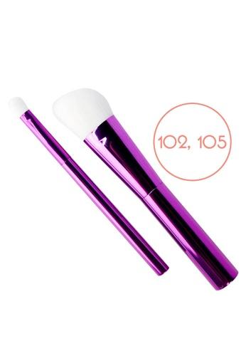 Ellana Mineral Cosmetics purple Iris Angled Brush And Blending Brush Duo (102 And 105) 9856CBE4CD5262GS_1