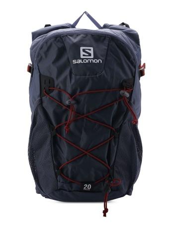 Salomon navy Evasion 20 Backpack SA438AC63WFOMY_1