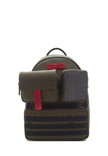 Braun Buffel green Urbanizer Backpack 5A1F8ACCDBD67AGS_1