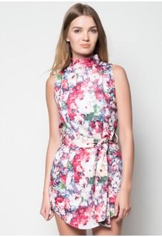 Halter Short Dress w/ Sash