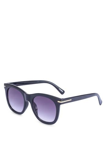 ALDO black and gold Queensway Wayfarer Sunglasses E56C3GLEB6B1A4GS_1