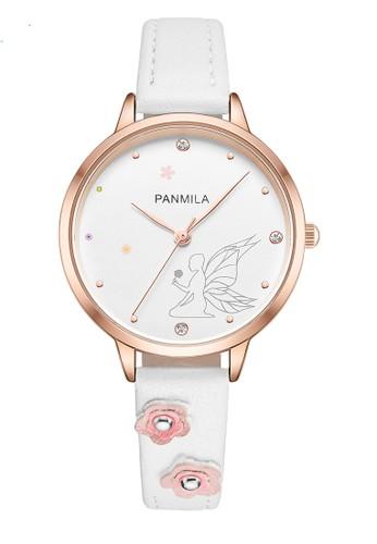 Panmila white Panmila Jam Tangan Wanita Kasual P0505M-DZ1RWW Tali Kulit White Putih C6EBEAC2DCA3FCGS_1