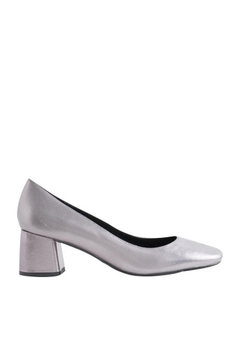 eq:iq silver eqEVA Block-heel Patent Pumps EQ351SH0FVB3SG_1
