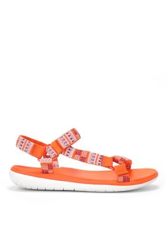 Twenty Eight Shoes 橘色 防水超輕涼鞋 JD16 70C9DSHAEF392FGS_1