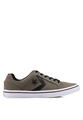 Converse green EL Distrito Ox Sneakers CO302SH0SW8DMY_1