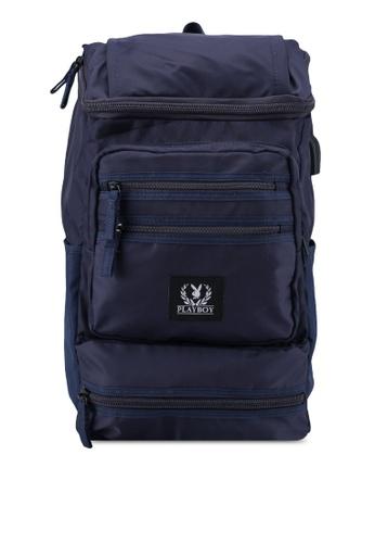 Playboy blue Playboy Laptop Backpack A3E83ACCDA5D75GS_1