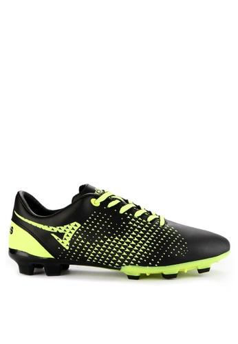 Ardiles black and green Men Mission Soccer Shoes 127E9SH5FE0B08GS_1