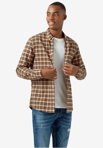 Burton Menswear London blue Checked Long Sleeve Shirt 290A8AAD4F3EFCGS_1