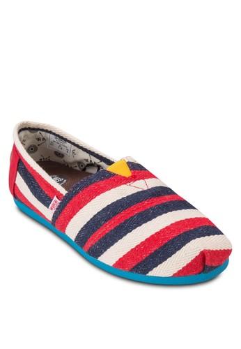 esprit門市地址Ruiz 撞色條紋懶人鞋, 鞋, 懶人鞋