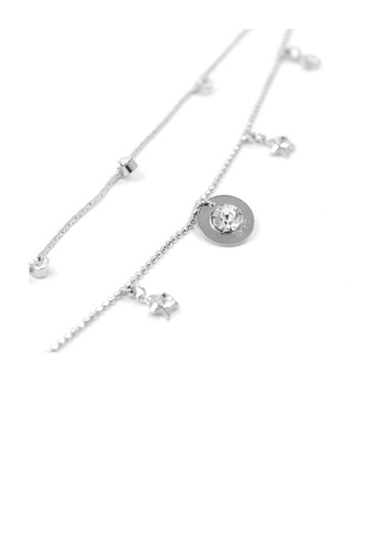 Glamorousky silver Elegant Starrish Anklet with Silver Austrian Element Crystals 2E928AC603CE46GS_1