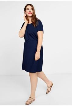aaca8cc9fc6 Violeta by MANGO Plus Size Elastic Waist Dress RM 199.00. Sizes M L XL XXL